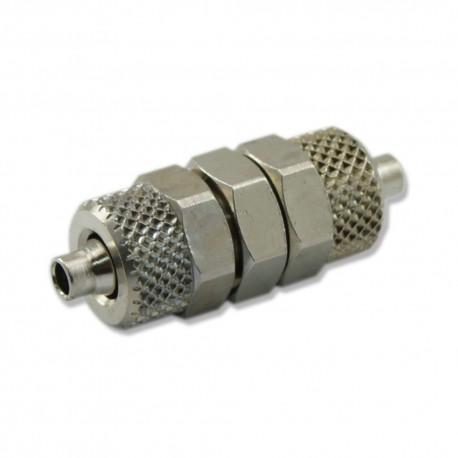 Przelotka metalowa z nakrętkami - na wężyk 6mm