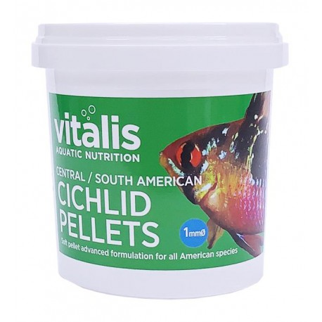 Vitalis Central/South American Cichlid Pellets XS 1mm 70g - 155ml
