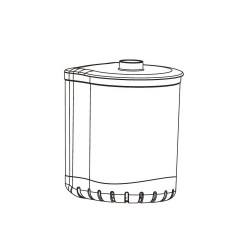 Aquael Pojemnik filtra turbo 500