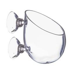 Szklana doniczka - z przyssawkami