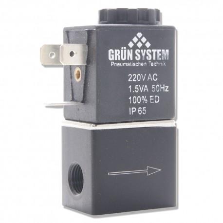 Elektrozawór Grun System 230V, 1,5w gwint wew. 1/8 (z przewodem)