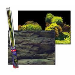 Aqua Nova Tło akwariowe 100x50cm - ROCK/PLANTS