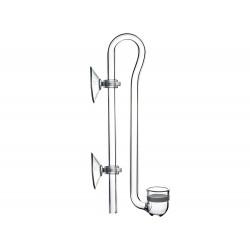 Szklany dyfuzor CO2 Hang 15mm (przyssawki w komplecie, wys. 13cm)